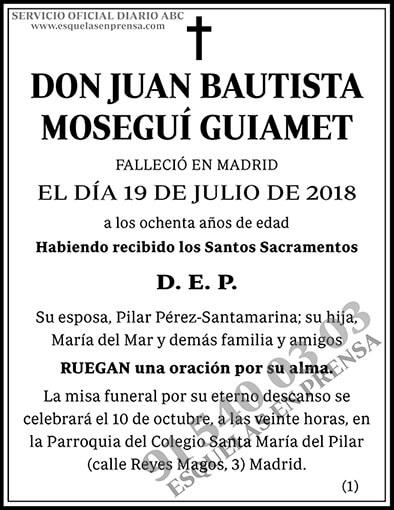 Juan Bautista Moseguí Guiamet